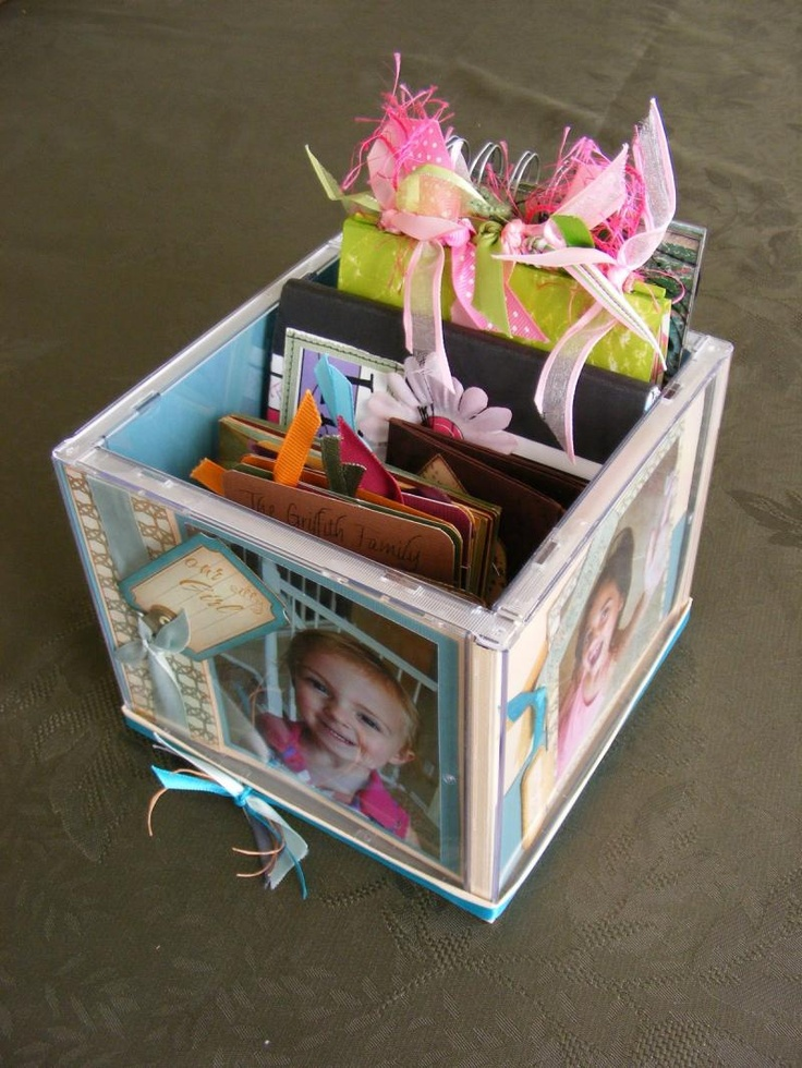 DIY Garden and Crafts - CD Photo Cube. What a cool way to recycle CD cases! For a great tutorial go to: http://www.instructables.com/id/Compact-Disc-Jewel-Cube-Display-Case/?ALLSTEPS
