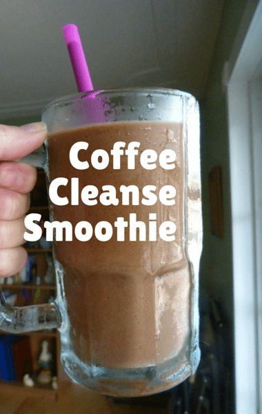 Coffee-Cleanse Smoothie Recipe      1 C coffee     1 C almond milk     cinnamon – to taste     ice     1 banana     1 tbsp date sugar     vanilla extract – to taste