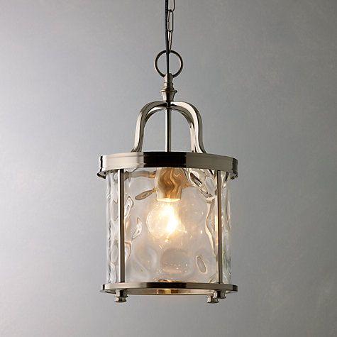 Buy John Lewis Warwick Lantern, Nickel Online at johnlewis.com