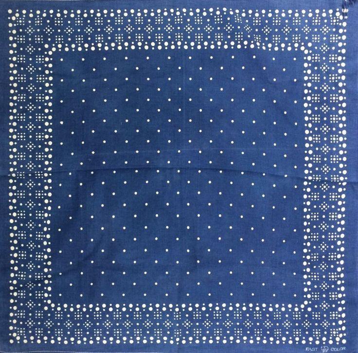 vintage blue bandanna