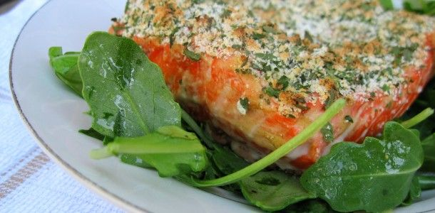 Simple Herb Crusted Salmon  #21dsd #salmon