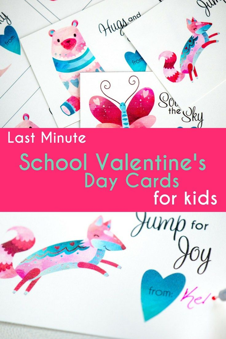 These last minute school valentine's day cards for kids are simple and encouraging. Print on card stock, cut and pass out. Perfect for school valentine's day parties for kids.