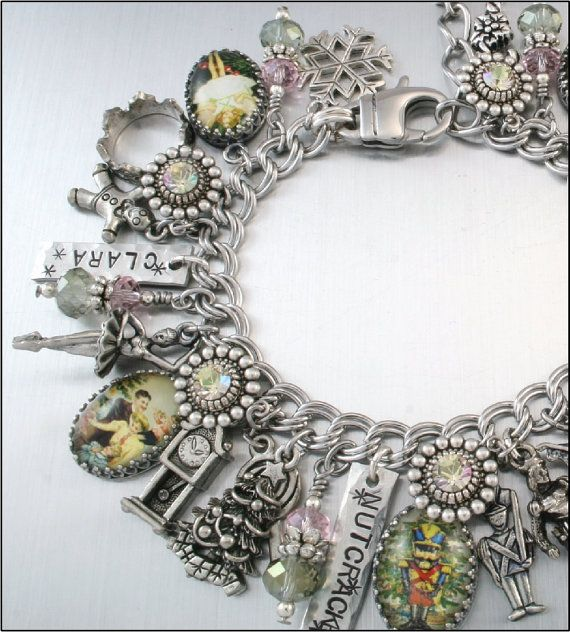 The Nutcracker Charm Bracelet by BlackberryDesigns on Etsy. (This bracelet shows that you can be creative with the charms and make it your own. Love the idea, but would love to make it with stainless steel.)