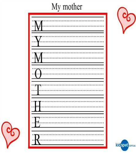 Lots of FREE Mothers Day poems - Mothers Day activities for kids {Weekend Links} from HowToHomeschoolMyChild.com