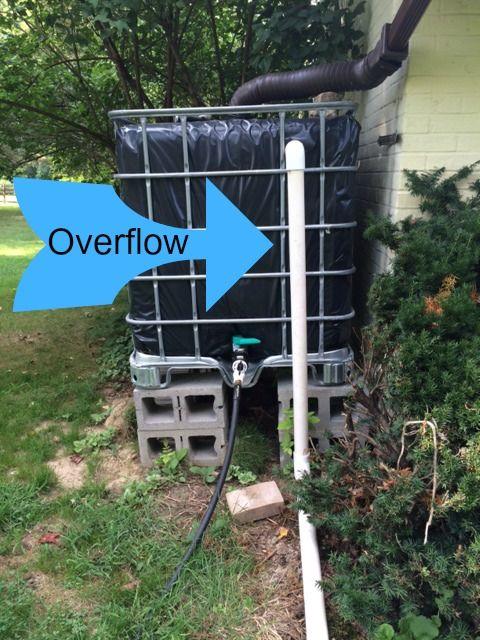 Diy Rain Barrel From A 275 Gallon Ibc Water Tote