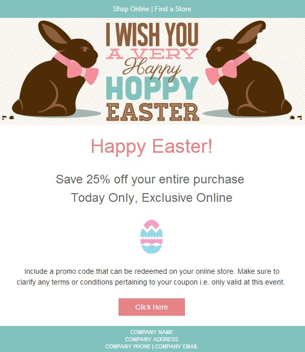 25 best easter newsletters images on pinterest email newsletter easter email marketing templates have you thought about your easter campaigns yet negle Image collections