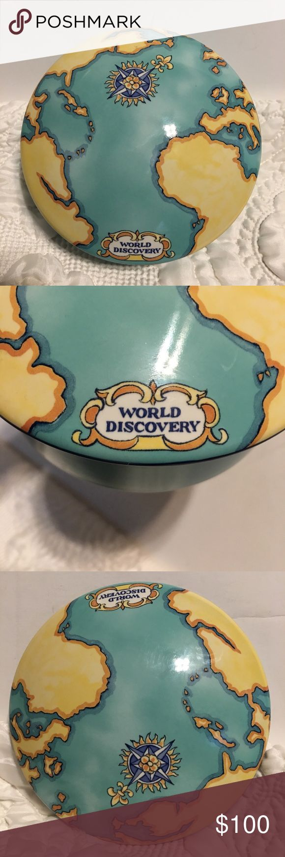 Tiffany & Co World Discovery Collectible Box 🎁 Very nice Tiffany & company collectible Ceramic jewelry box . Flawless with no chips . Box has been Stored . Authentic! Very nice Holiday gift idea . Fast shipping! Box or dust bag not included in sale. Tiffany & Co. Jewelry