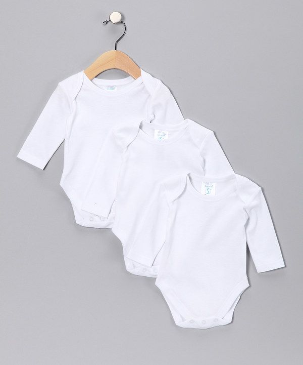 Look at this White Long-Sleeve Bodysuit Set on #zulily today!