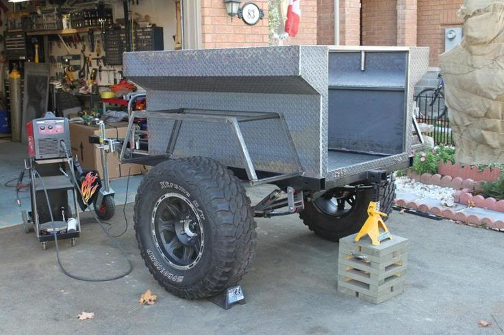 Build A Jeep >> Off-Road Trailer custom build (write-up) - Toyota 120 Platforms Forum | Camping | Pinterest ...
