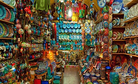 Typical Moroccan shopping