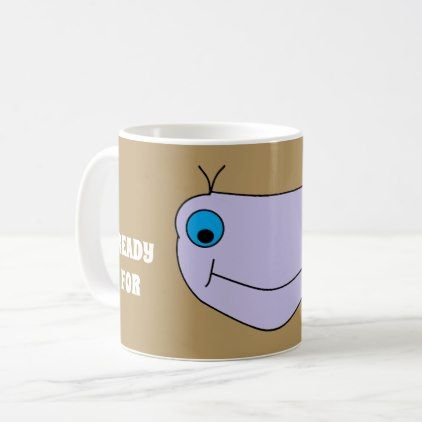 READY FOR COFFEE Cute Smiley Happy Monster Coffee Mug - fun gifts funny diy customize personal