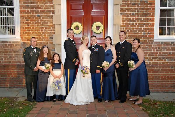 Navy blue wedding color schemes bridesmaid dress color for Free wedding dresses for military brides