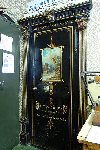 Another Mosler vault door.  Bankers Loan and Trust Company Bank Vault Door by radargeek, via Flickr