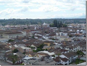Vista panorámica de Popayán, desde el morro de tulcán. Colombia