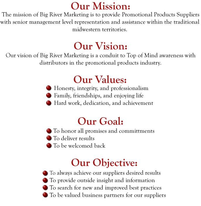 Professional writing company vision mission statement
