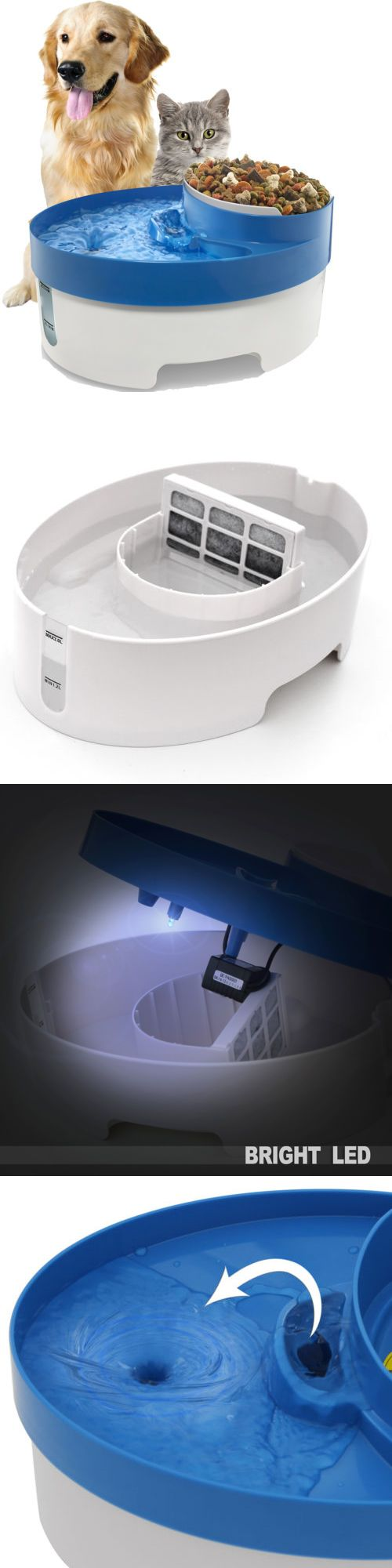 Cute Animals And Animals Stuff: Pet Water Fountain For Cat Dog Automatic Food Bowl Dish Feeder Dispenser 3 In 1 -> BUY IT NOW ONLY: $16.95 on eBay!