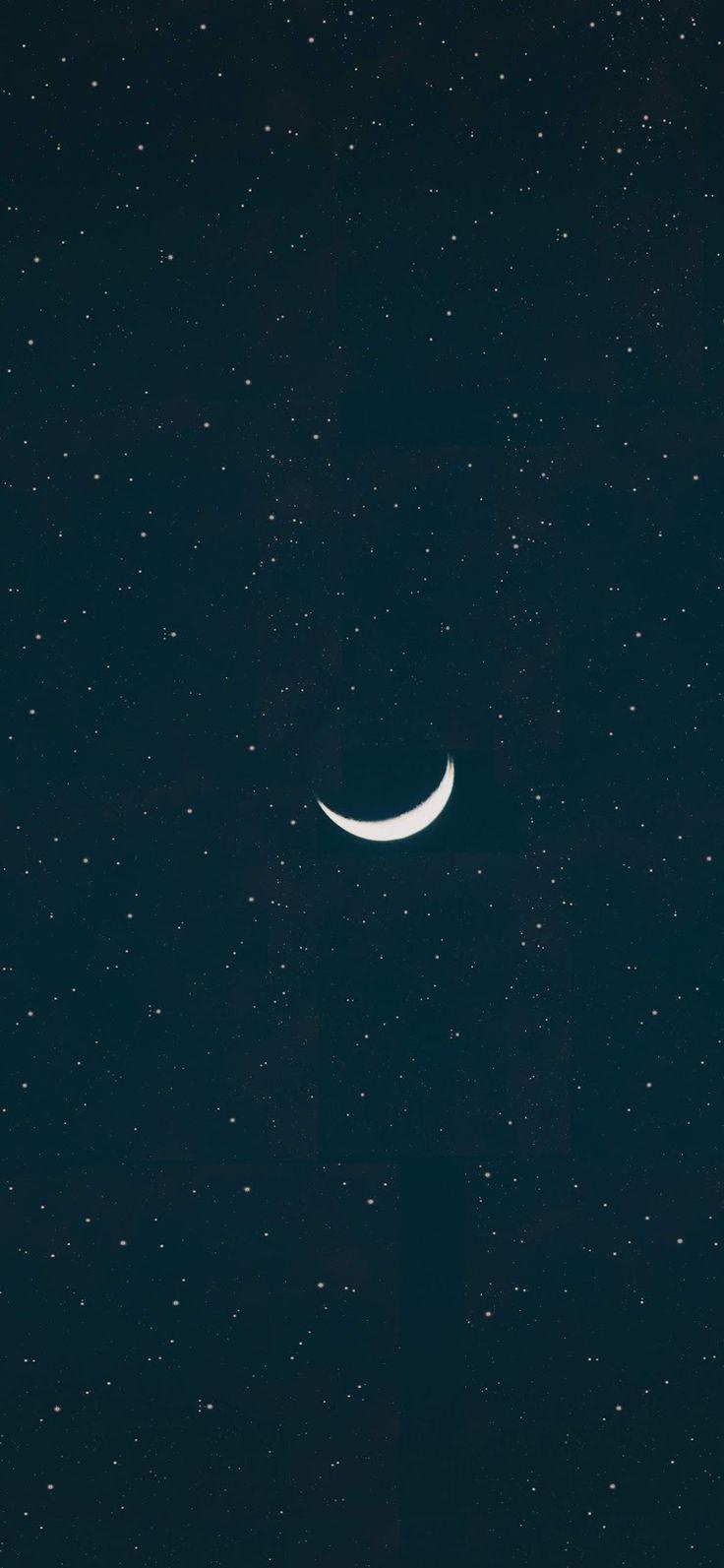 Crescent Moon Wallpaper Iphone X Wallpaper Iphone Gambar Bunga