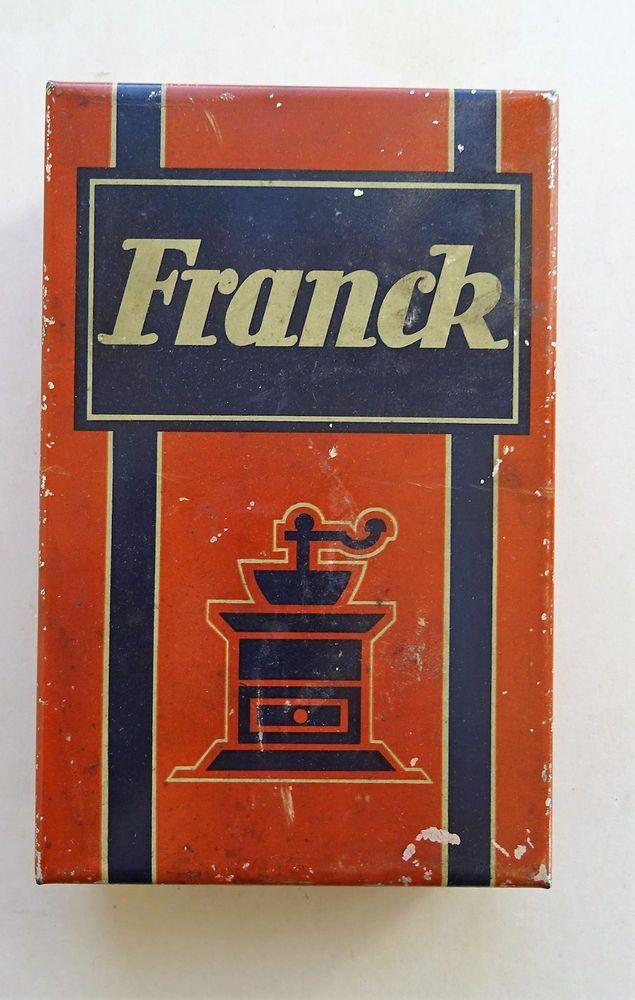 Vintage Reklame Werbung Kaffee Franck Söhne Linz um 1915 coffee grinder Mühle