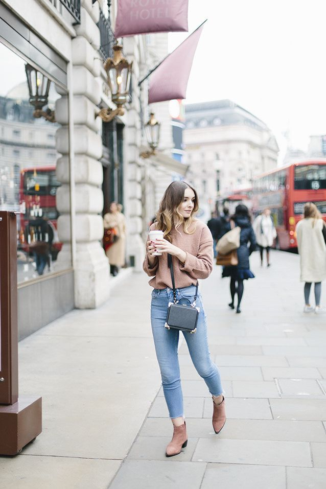 Pink Knit and Pale Denim