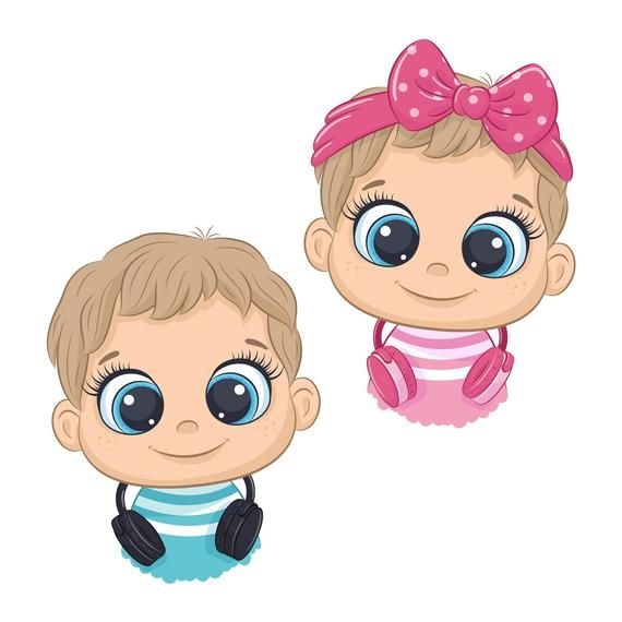 Baby Boy And Girl Clipart Digital Download In Png Eps Jpg Format These Digital Clipart Files Are Perf Baby Shower Clipart Cute Baby Boy Cute Animal Clipart
