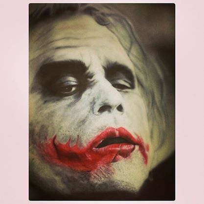 The Joker Painting i had done at the Rites Of Passage tattoo Expo. Jmunz