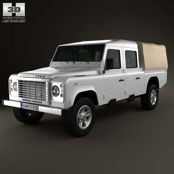 Land Rover Freelander 2 Lr2 3d Model: Land Rover Defender 130 High Capacity Double Cab PickUp 3D
