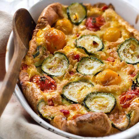 Découvrez la recette Clafoutis salé minceur sur cuisineactuelle.fr.