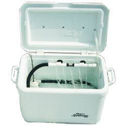 Marine Metals Super Saver Pump Kit allows you to fill, aerate and drain your portable livewell, ice chest or bait tank with one do-it-all system.