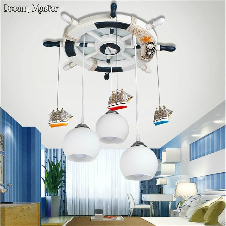 158.00$  Watch now - http://alin7i.shopchina.info/1/go.php?t=32806402653 - Mediterranean helm child room lamp kids bedroom chandelier led creative cartoon lighting personality free shipping 158.00$ #buyininternet