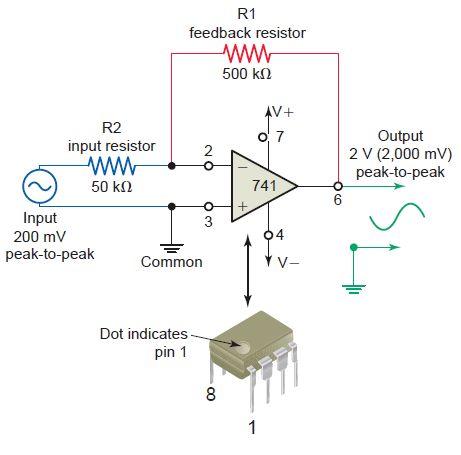 741 Op-Amp Voltage Amplifier Circuit   EEE COMMUNITY