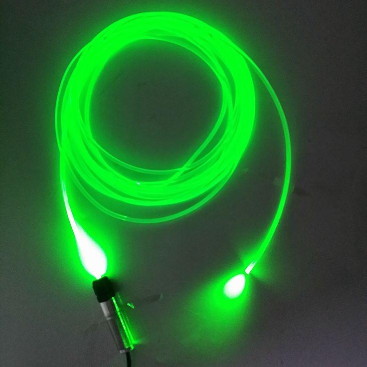 Dc12v 3 w led motor de luz de fibra óptica para la decoración del coche, de un solo color, con 2 metros de fibra de 3.0mm transparente