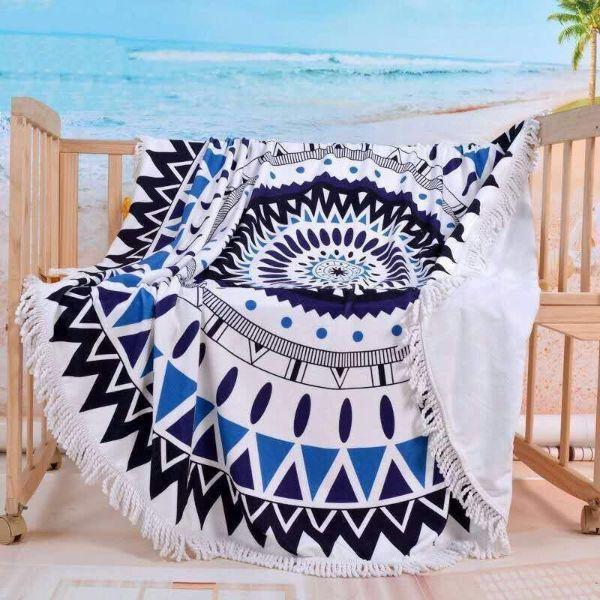 Round Mandala Microfiber Beach Towel Beach Towel Large Beach