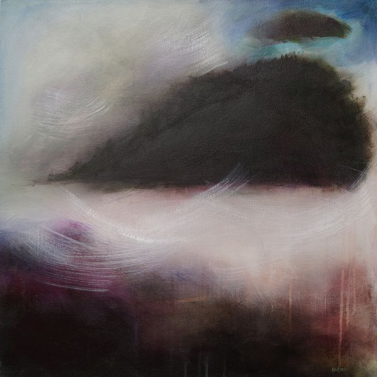 "Glacial Erratic 24""x24"" acrylic on canvas  Sold"
