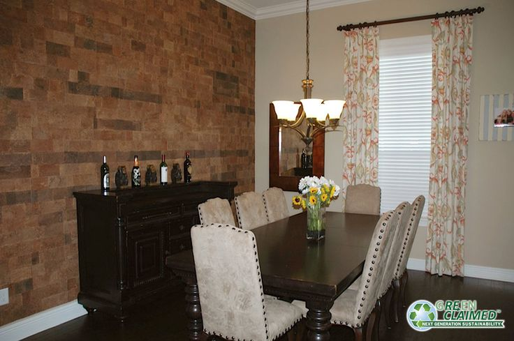 kristina says the meadow cork wall tiles brought her dining room to life in addition to being easy to install kristina says the room feels larger - Cork Dining Room Design