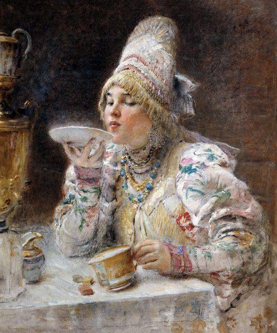 Russian beauty, Konstantin Makovsky painting 13