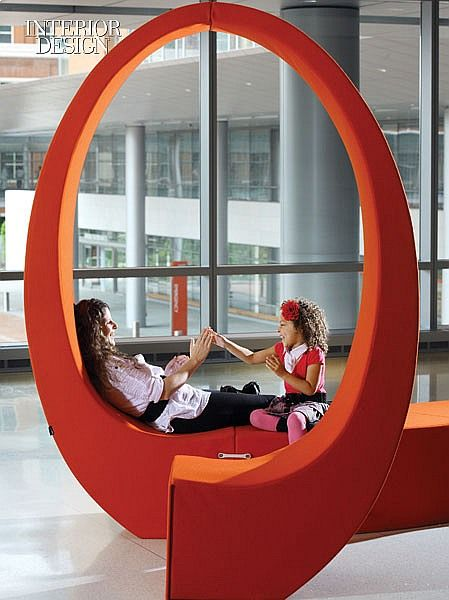 Healthcare The Art of Healing Healthcare Design Johns Hopkins Hospital Fabio Novembre's bench in the children's lobby. #healthcare, #hospital