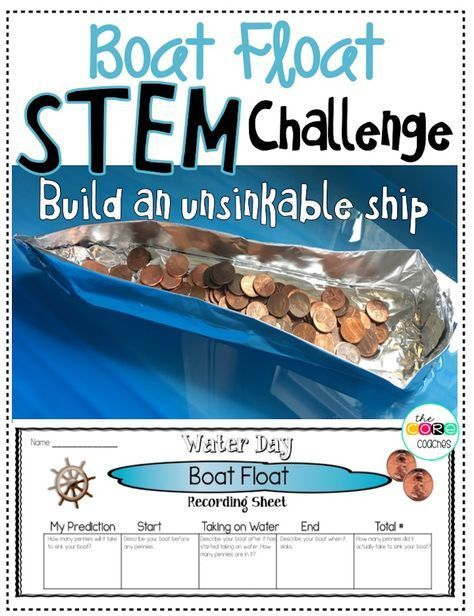 Build an unsinkable ship challenge using pennies and tin foil. One of several STEM and science activities that will engage 5th and 6th graders as they countdown the days until summer break. Full day lesson plans also include math, reading, writing, and art!