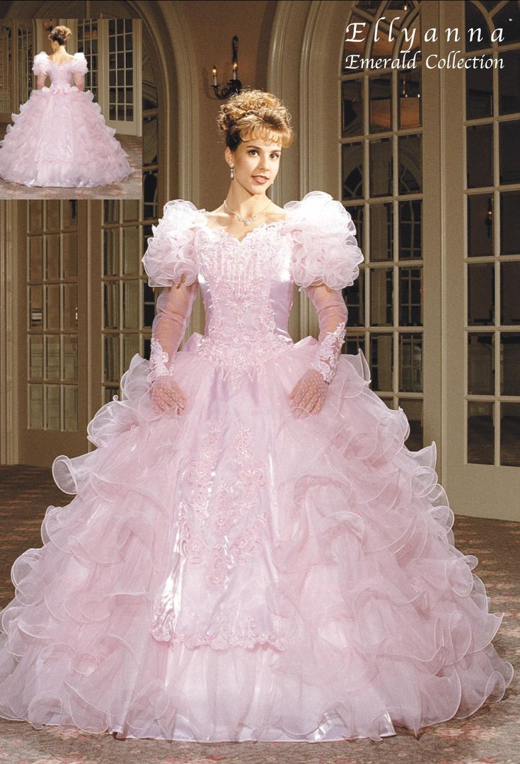 223 best images about barbie pink wedding n quinceanera for Pink ruffle wedding dress