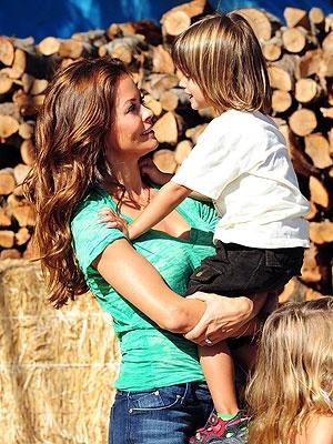 SKECHERS International ambassador Brooke Burke with her gorgeous son.