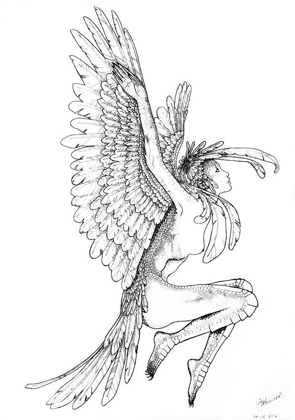 BIRD WOMAN Print Design 27.08.2014 on Behance
