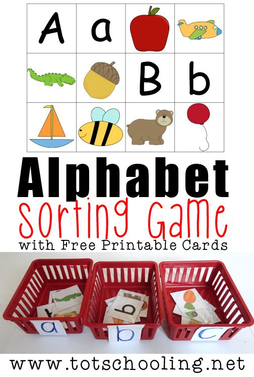 Free Printable Alphabet Sorting Game Repinned by Apraxia Kids Learning. Come join us on Facebook at Apraxia Kids Learning Activities and Support- Parent Led Group.