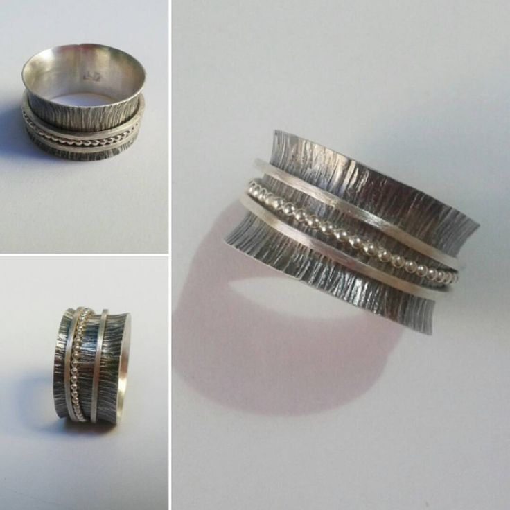 Sterling silver spinner ring.