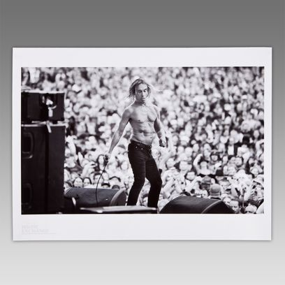 One of Six limited edition music prints for sale exclusively through the Paul Smith website  Image of Iggy and the Stooges as they headline the 2nd stage at Sonisphere music festival, Knebworth Sunday 1st August 2010.  The Music Exchange is an independent record store run by homelessness charity Framework. The shop is not-for-profit providing voluntary experience to those that have suffered from homelessness to work in a supportive environment with the aim of getting back into work. All…