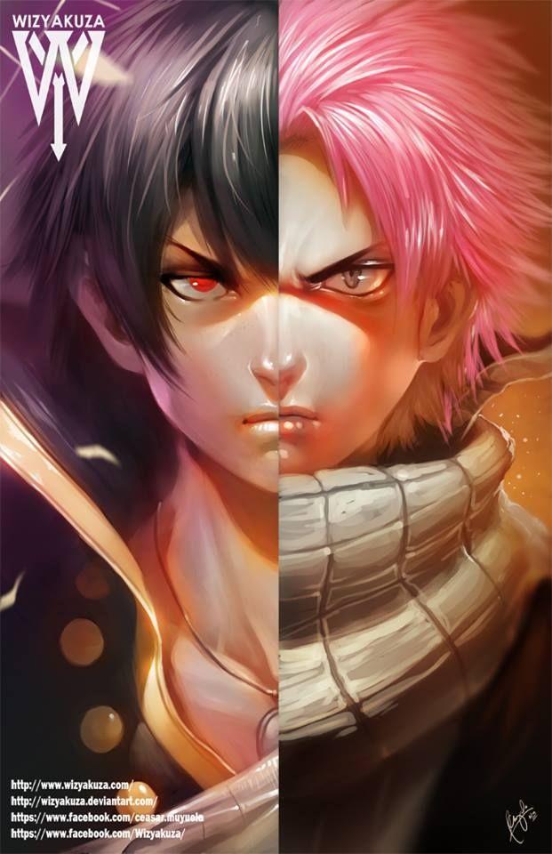 Fairy Tail - Zeref And Natsu Dragneel