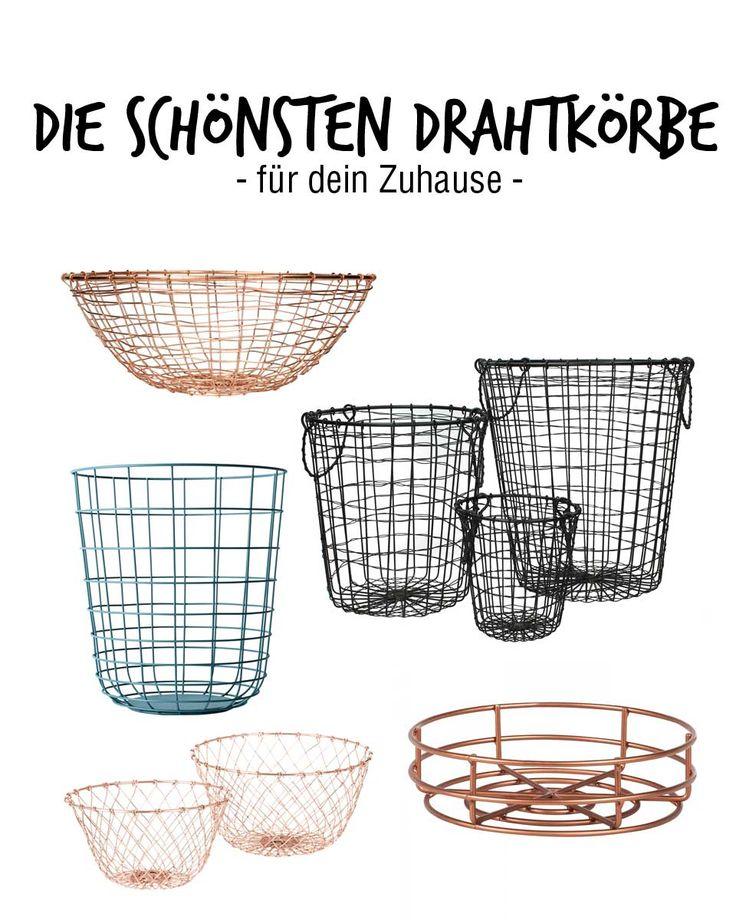 Tolle Drahtkoerbe Stauraum Ideen Einrichtung Galerie ...