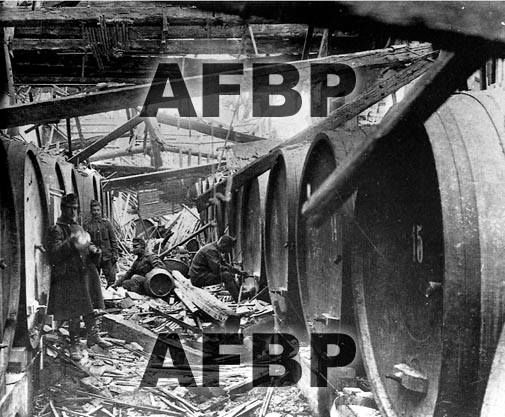 Guerra 1915-1918. Romanziol di Noventa di Piave. Vandalismo enologico da parte delle truppe occupanti