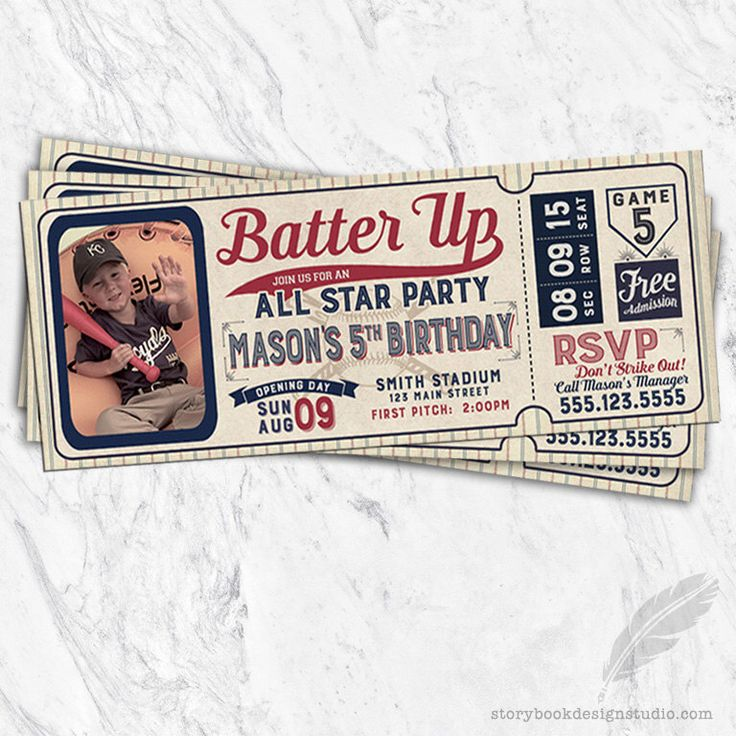 Baseball Birthday Invitations, baseball, tickets, stubs, all star, batter up, digital file, printable by MagicalInvitations on Etsy https://www.etsy.com/listing/498099307/baseball-birthday-invitations-baseball