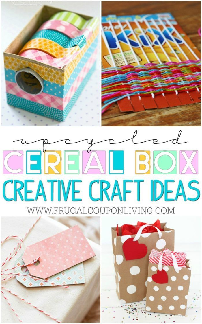 We found some of the most creative upcycled cereal box crafts. Ideas and project...