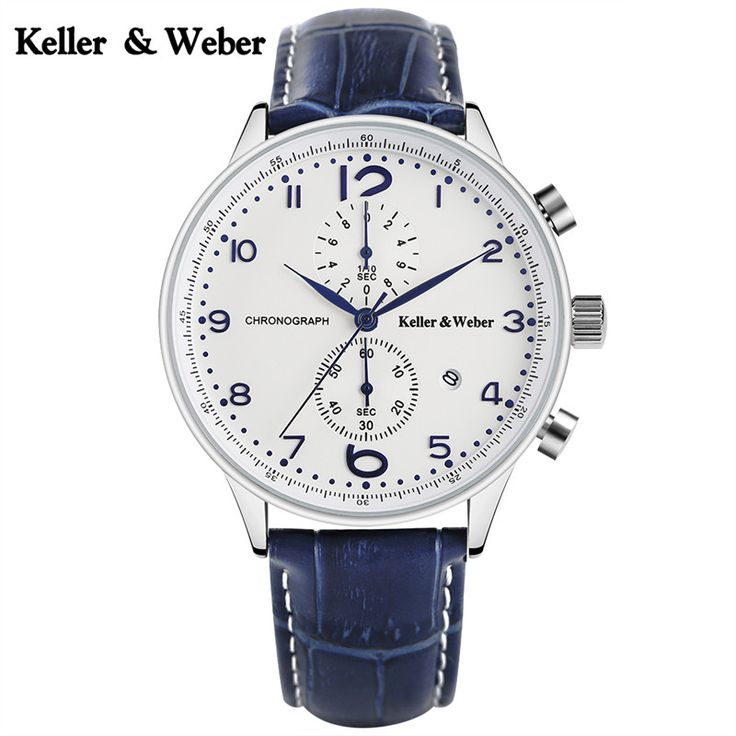 >> Click to Buy << Keller & Weber Genuine Leather Band Men Wrist Watch Calender Display Classic Strap Modern Watches Scratch Proof Mineral Glass  #Affiliate