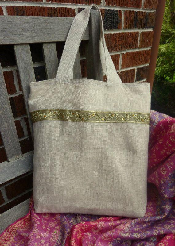 Sikara Linen Tote Bag